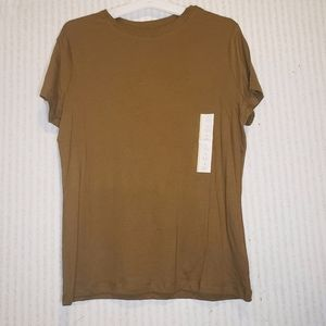 T Shirt Women's Solid Olive Small a new day